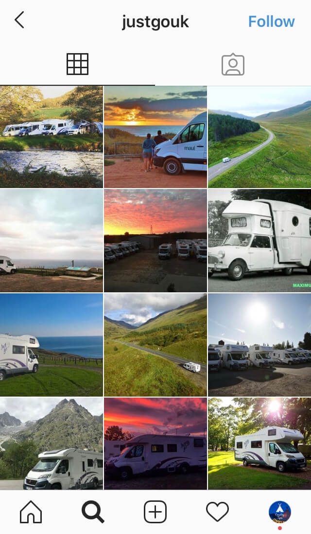 Just go motorhome hire rental bedfordshire